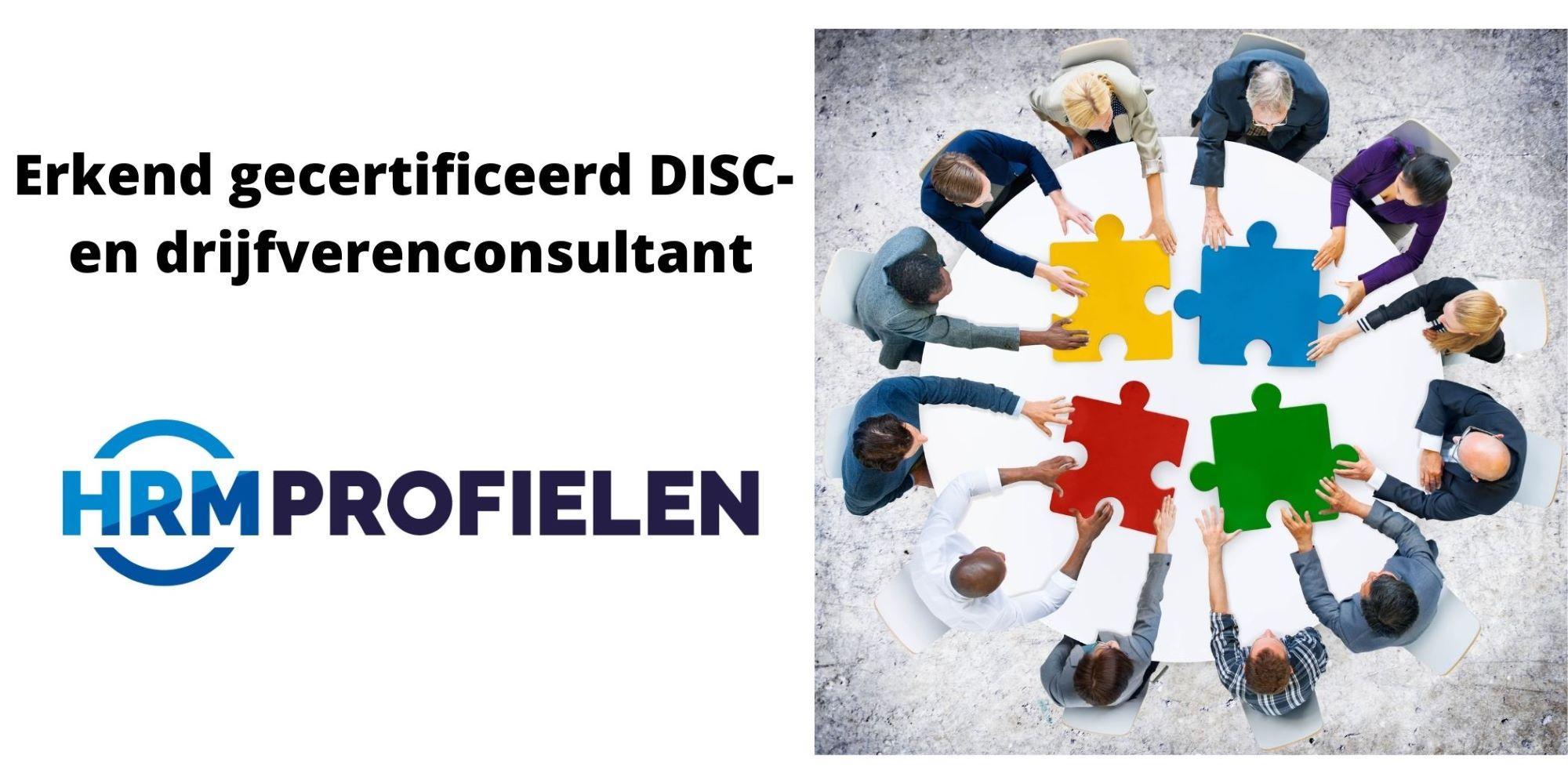 Erkend Gecertificeerd DISC– en Drijfverenconsultant